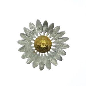 Zilver gouden hanger bloem Kees Hendriks