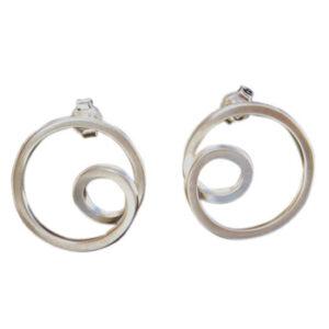Zilveren oorstekers Plata Pati E-836