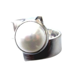 Ring zilver parel Plata Pati R581